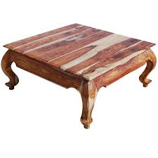Large Square Solid Wood Opium Coffee Table