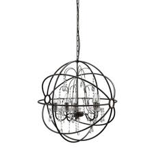 beautiful metal chandelier with glass crystals by creative co op new
