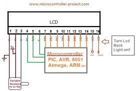lcd pinout and working microcontroller projects lcd interfaced in 8 bit mode