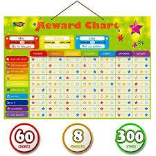 Foam Fill Chart Amazon Com Magnetic Reward Behavior Star Chore Chart For