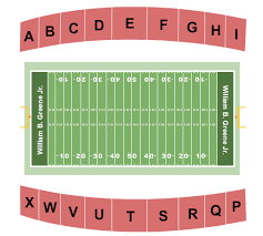 William B Greene Jr Stadium Seating Charts For All 2019