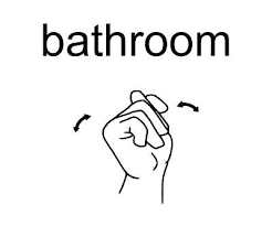 bathroom sign vector. What Is The Sign For Bathroom Language Ada Vector
