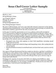 How To Write Cover Letter For Cv Executive Chef Cover Letter Sample