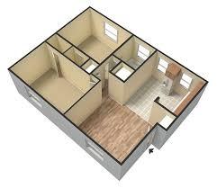 2 bedroom 1 bathroom 700 sq ft 3d unfurnished