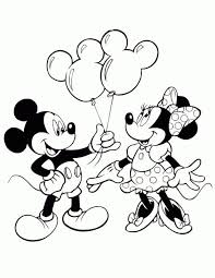 mickey giving minnie mouse balloons disney coloring pages printable and coloring book to print for free find more coloring pages for kids and s