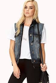 forever 21 forever cool distressed denim vest