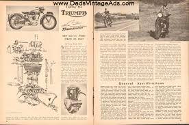 triumph dadscyclemags com 1950 triumph thunderbird 650cc road test photos specs