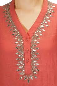 Patti Design Peach Diamond Pattern Gota Patti Work Tunic Available Only