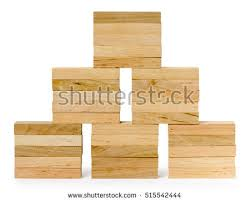 Wooden Bricks Game Empty Wooden Crate Isolated On White Stock Photo 100 91