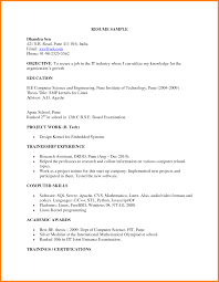 Resume Format For M Tech Student