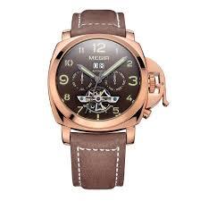megir mens mechanical watches top brand luxury men business megir mens mechanical watches top brand luxury men business watches skeleton leather mechanical self wind wrist