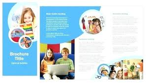 Education Brochure Templates Educational Brochure Templates Fold School Template Free For