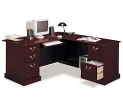 corner office desk wood exellent desk l shape bush solid cherry corner computer desk design