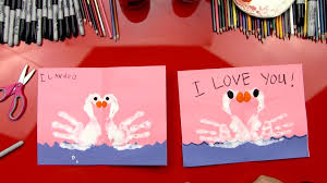 how to finger paint swans valentine s card