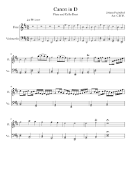 He wrote a considerable number cantatas for the lutheran church, hymn settings, and chamber sonatas for. Canon In D Sheet Music For Flute Cello Mixed Duet Musescore Com