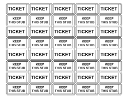 Raffle Tickets Without Numbers Ticket Template Free