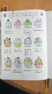 Love the cupcake idea for any birthday calendar.