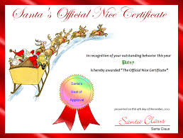 Printable Christmas Certificates FREE Printable Santa's Official Nice Certificate for Christmas 36