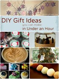easy diy gift ideas you can make in under an hour the list includes gifts