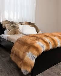 red fox fur rug