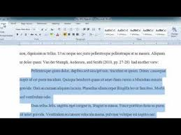 Quote Apa Format Mesmerizing APA Long Quotes In Word 48 YouTube