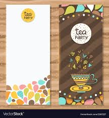 Cute Template Tea Party Brochure Template Cute Flyer Design Vector Image