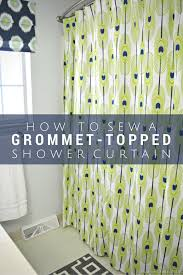 how to sew a grommet topped shower curtain