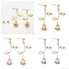 Female <b>Fashion</b> Earrings <b>Metal Contracted</b> Earrings Korean Woman ...