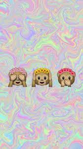 pastel background tumblr emoji.  Tumblr Wallpaper Emoji And Monkey Image On Pastel Background Tumblr Emoji E