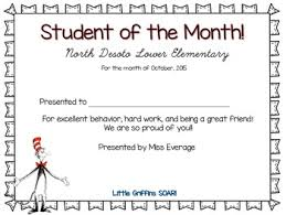 Student Of The Month Certificates Student Of The Month Certificate By Obseussed With Teaching Tpt