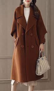 fensajomon women double ted belted long wool trench pea coat overcoat b076q9zc6z
