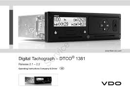 One Tachograph Chart Covers A Period Of Vdo Tachograph And Fleet Solutions Manualzz Com