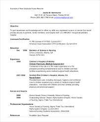 Graduate Nurse Resume Templates Nursing Student Resume Example 10