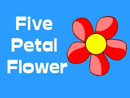 how to make a <b>five petal flower</b> - YouTube
