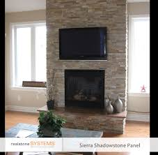 no mantel work with tv above similar to our end game raised hearth beige stone thin stone