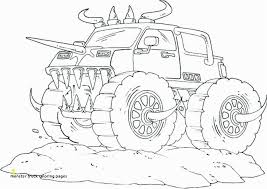 Coloring Pages Monster Trucks Grave Digger Monster Truck Coloring