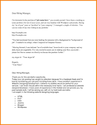 Portfolio Manager Cover Letter Sample New 7 Sample Email To Hiring