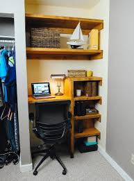 office in a closet. Diy Closet Office In A S