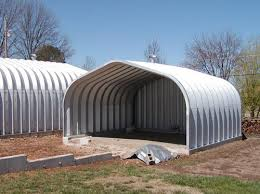 bolt together corrugated steel buildings are available in many diffe shapes and sizes they all go together in a similar way and a 3 or 4 man crew can