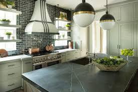 pietra gray marble on kitchen island