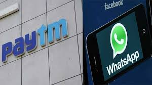 Image result for images of paytm and whatsapp