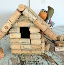 how to build a bird house with used wine corks