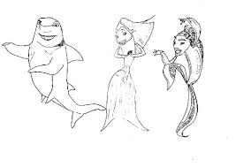 Small Picture Shark Tale Ernie and Bernie Hippie Style Coloring Pages Batch