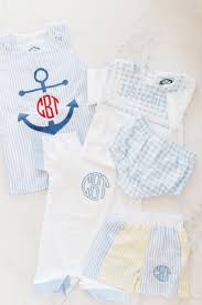monogrammed baby boy clothing from cecil lou
