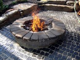 Block Fire Pit Kit How To Build A Round Stone Fire Pit How Tos Diy