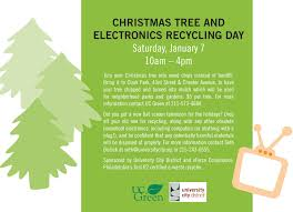 Christmas Tree and Electronics Recycling in Clark Park Tomorrow!