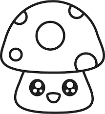 Coloring Pages Print Draw So Cute Coloring Book Mushroom Coloring