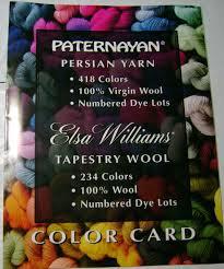 Paternayan Persian Yarn Color Chart Paternayan Elsa Williams Yarn Picture Color Card Tapestry