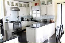 Small Picture White Kitchen Cabinets With Black Appliances Kitchen Engaging The
