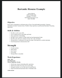 Bartender Duties For Resume Extraordinary Bartender Resume Job Description Socialumco